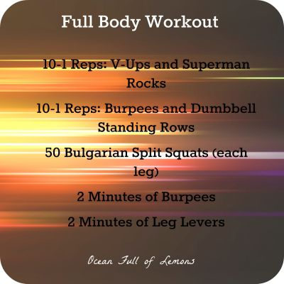 July 21 2015 Full Body Workout